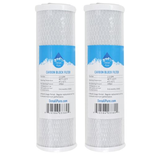 2X Activated Carbon Block Filter for US Water Systems 200-RO-DI