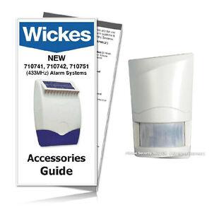 wickes response alarm wirefree pir detector 710743 sap e 433mhz rh ebay co uk