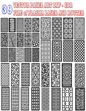 39 Vector Panel Art Dxf Eps Cdr Ai File Of Plasma Laser And Router Cut Cnc