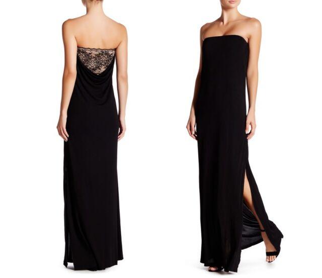 Rachel Zoe Graciela Strapless Maxi Dress Gown Black Sz 8 Pf16g110   eBay