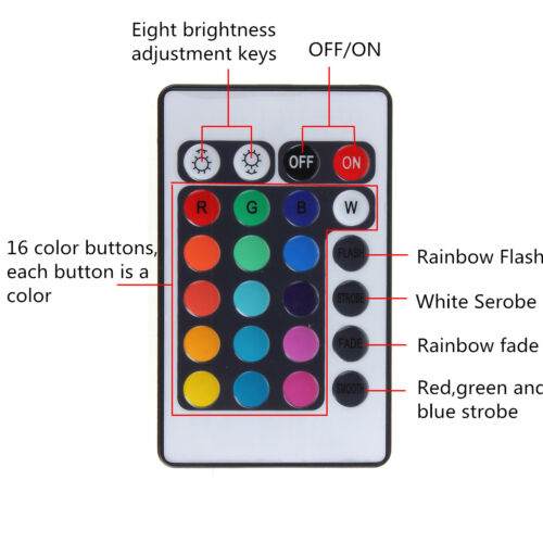 RGB LED CLEAR LENS Angel Eye Halo DRL IR REMOTE For 98-05 E46 4D W// Projector