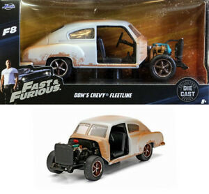Chevy Fleetline Fast & Furious Dom F8 and Chevrolet 1:32 Jada Toys 98303