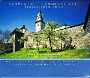 Slovaquie - Coffret 2010 BU 1 Cent à 2 Euro + medaille régions Slovenske Turiec