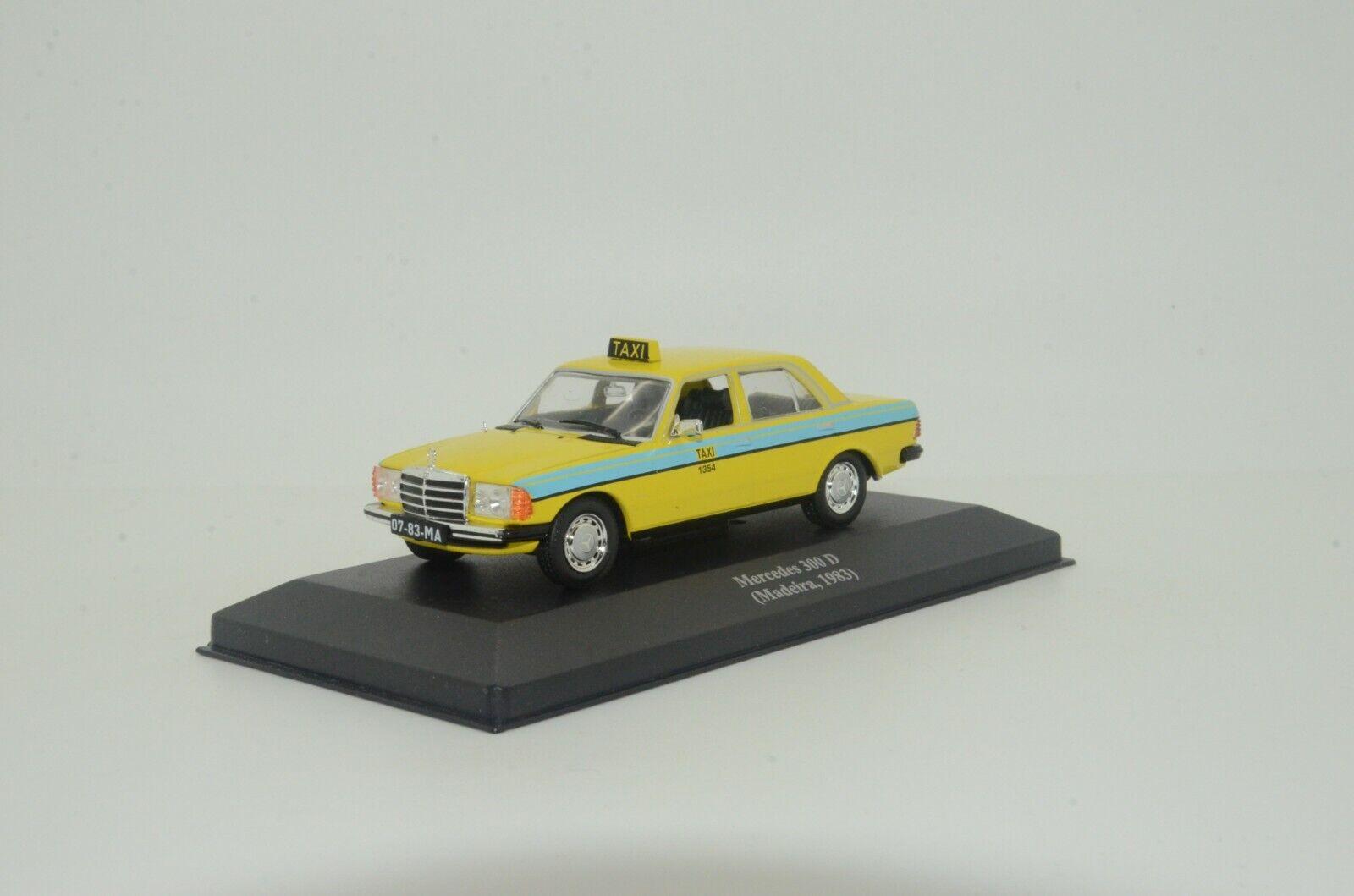 RARE     Mercedes 300D 1983 W123 Taxi Madeira Deagostini 1 43