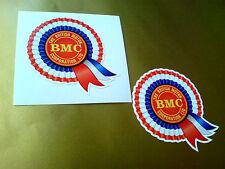 BMC Rosette Helmet Car Classic Retro Car Decals Stickers 1 off pair 50mm