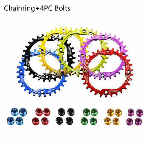 US 30T 6 Colors 104bcd Narrow Wide Single Round MTB Road Bike Chainring Crankset