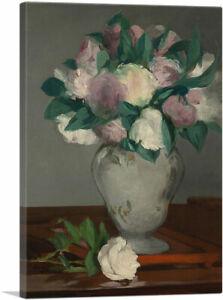 ARTCANVAS Peonies 1865 Canvas Art Print by Edouard Manet