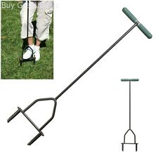 Garden & Lawn Coring Aerator Root Growth Soil Yard Butler ID-6C Manual Tool New