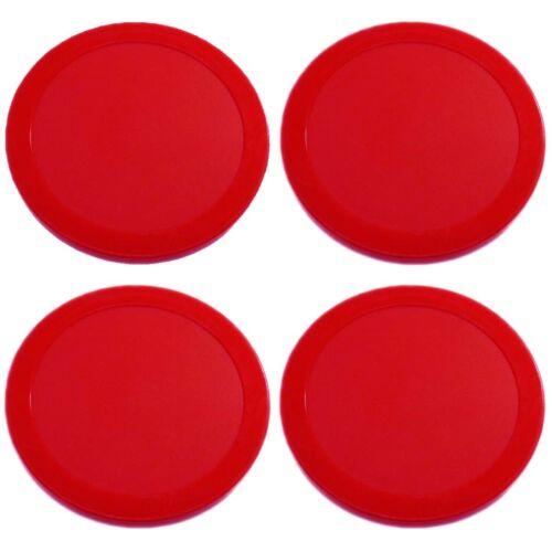 New Red Air Hockey Table Lot of 4 Pucks 4pcs 63mm 2.5 13g  USA Seller DURABLE!