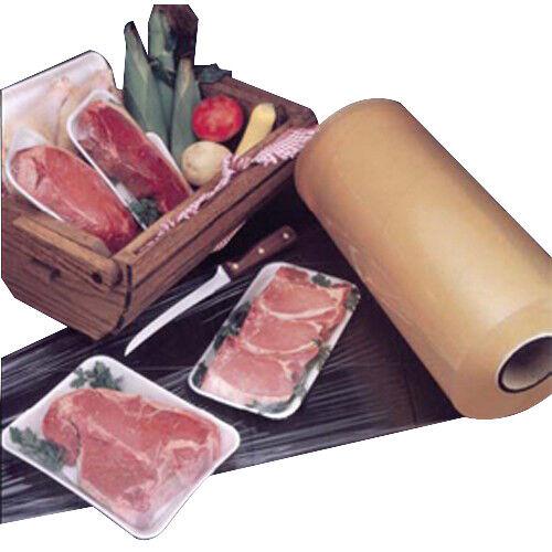 """Resinite Automatic Stretch Stretch Meat Film Clear 4000/' L x 14/"""" W x 75ga"""