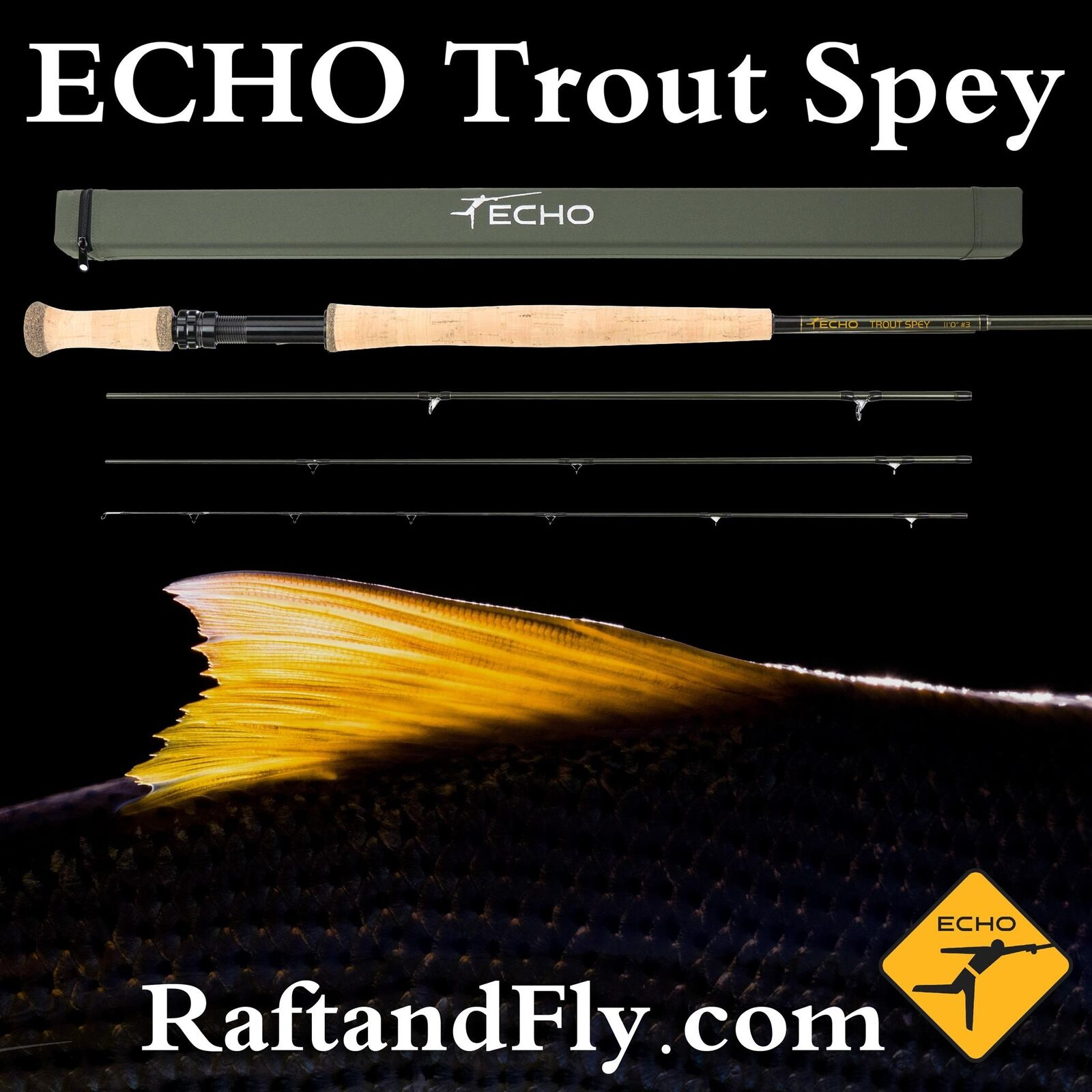 Echo Trucha Spey 4wt 11' 0  - Liftime Garantía-Envío Gratis