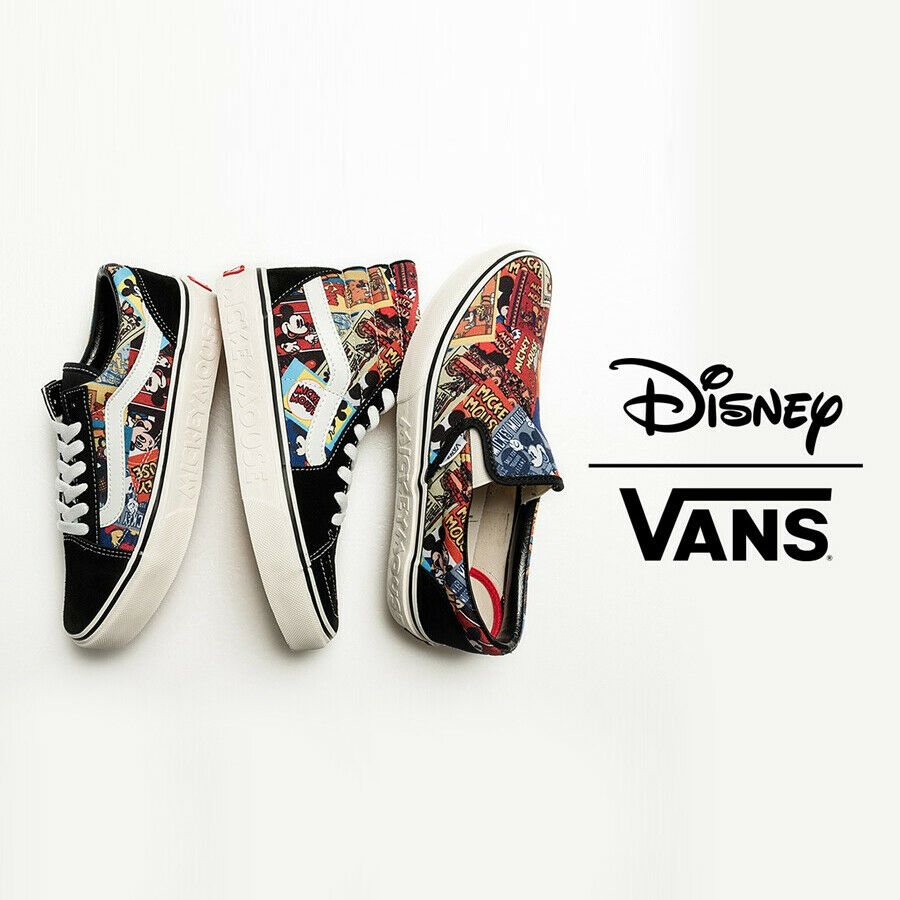 Vans X Disney Mickey Mouse 90th Aniversario Cumpleaños  Asia Exclusivo Pack