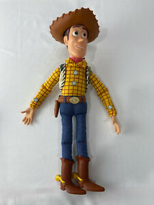 Disney-Pixar-Toy-Story-Sheriff-Woody-Pull-String-Doll-with-Hat-15-034-5-Phrases