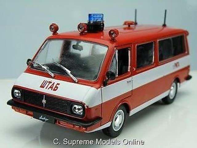 RAF 22034 FIRE Modèle Van échelle 1/43RD rouge/blanc Palette couleurs de couleurs Palette par exemple T3412Z () 742c6d