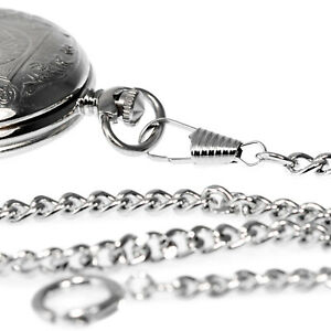 Uhrkette-30-cm-Uhrenkette-Panzerkette-Taschenuhr-Kette-1-Karabiner-1-Federring