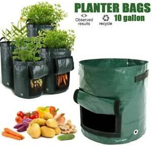 4pcs-10-Gallon-Garden-Planting-Pots-Planter-Grow-Bags-for-Potato-Carrot-Onion