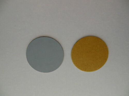 Metallplättchen für Magnet Plaketten / Magnet PIN zum Ankleben 2,2 cm; 2 Stück