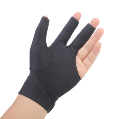 3Pcs Snooker Billiard Cue Glove Pool Left Hand Three Finger Accessory
