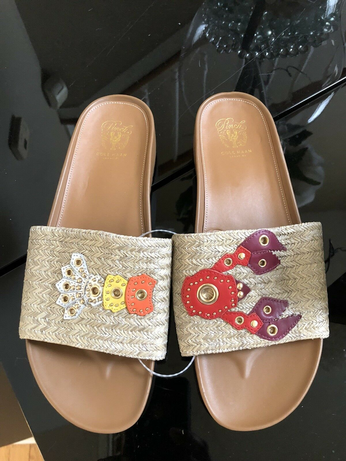 COLE HAAN Grand OS Pinch Lobster Slides Sandals scarpe Dimensione 9 1 2 B