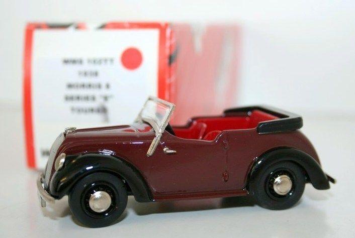 WESTERN MODELS 1 43 WMS102TT - 1938 MORRIS 8 SERIES E TOURER - MAROON & nero