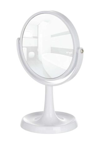 "Kosmetikspiegel /""Rosolina/"" Standspiegel drehbar Stahl Weiß  ø 16cm 9882 NEU"