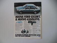 advertising Pubblicità 1980 FORD ESCORT
