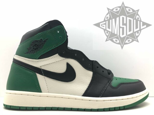 b77c80da3638 NIKE AIR JORDAN 1 RETRO HIGH OG PINE GREEN BLACK SAIL 555088 302 sz 11