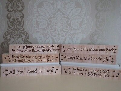 Wooden hanging signs special quotes dad mum love man cave moon east of india