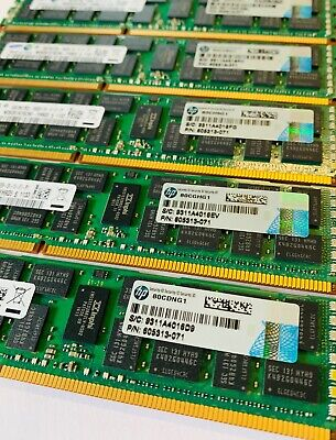 96GB DDR3 PC3L-10600R ECC Reg Server Memory RAM HP ProLiant DL360p G8 12x8GB