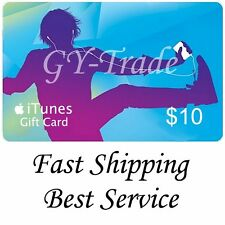 Apple iTunes $10 US Gift Card Voucher Certificate Code USA Dollars United States