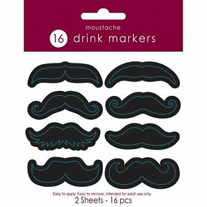image is loading 16 mustache stickers for drinks barware novelty man