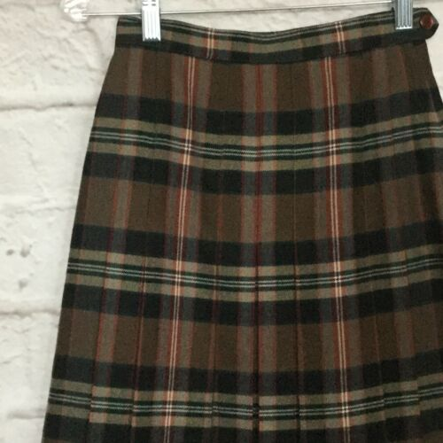 Vtg Aljean Canada Women's Sz 4 Brown Black Plaid P