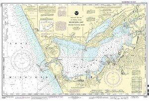 NOAA Chart Muskegon Lake and Muskegon Harbor 29th Edition 14934