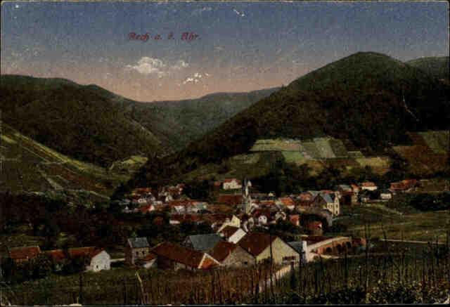 Feldpostkarte 1. Weltkrieg RECH a.d. Ahr 1917 Briefstempel Ahrweiler World War I