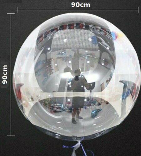 50 Stück 90cm Riesen Helium Runde Bubble Luftballons Transparent Geburtstag Deko