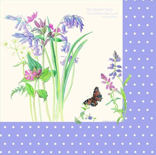 18 X EDWARDIAN LADY serviettes 33 cm Lilas Fleurs Femmes Party Vaisselle Fournitures