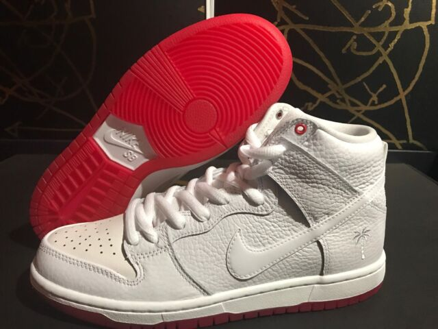 6518847122a9 Nike SB Zoom Dunk High Pro QS White University Red Ah9613-116 Size 8 ...