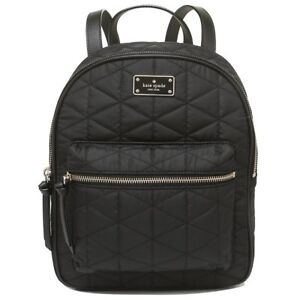 fab3c1cba27b Kate Spade Wilson Road Quilted Small Bradley Black Nylon Backpack ...