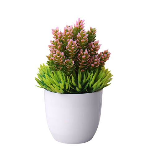 Artificial Simulation Bonsai Flowers Tree Pot Fake Potted Plant Home Table Decor