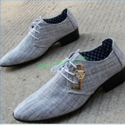 New Wedding Leapord Mens Lace Up Oxford Pointy Toe Dress Formal Business Shoes