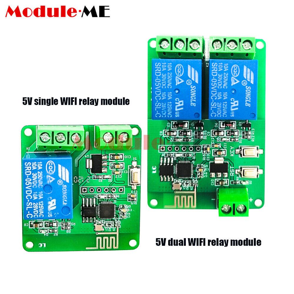 1/2 Channel DC 5V Relay Module ESP8266 ESP-01 WIFI Wireless Board IOT Smart Home