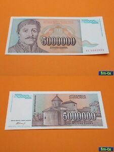 Yugoslavia 50 Million Dinara Banknote 1993 Old Rare Collectible Currency Serbia
