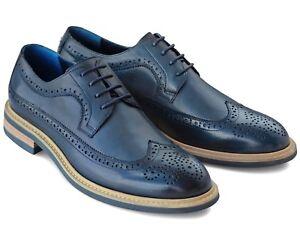 * 853 Uk 6 Homme Bleu Marine Richelieu à Chaussures à Lacets En Cuir Véritable Décontracté Bureau U 40