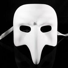 "Blank  ""NASONE GREZZO"" VENETIAN MASK Small Long Nose Masquerade Mask"