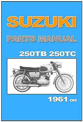 SUZUKI Parts Manual Colleda 250 250TB TB 250TC TC 1961 1962 1963 Spares Catalog