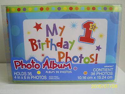 Affidabile 1st Compleanno Foto Album-boy-contiene 36 Foto-controlla Il Fb Su Questo- Ritardare La Senilità