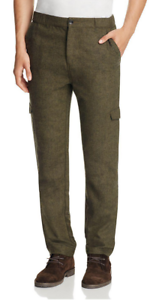 Native Youth Surge Slim Fit Cargo Pants, Dark Green, Size 36, MSRP