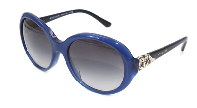 51458G Sunglasses Blue Grey Gradient  *NEW* 55mm Authentic BVLGARI 8167B