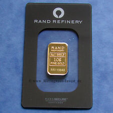 Goldbarren 10g 10 Gramm Gold 99,99 Rand Refinery Loxodonta Elefante elephant