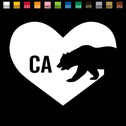 From USA I LOVE CALIFORNIA State Bear Car Window Vinyl Decal Sticker US002